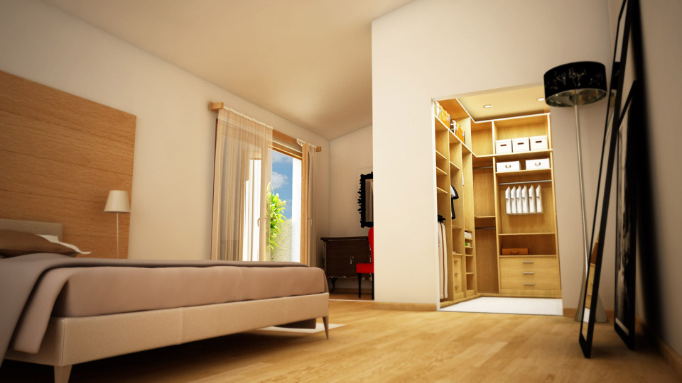 Htmlcaption6 - Camera da letto con cabina armadio e bagno ...