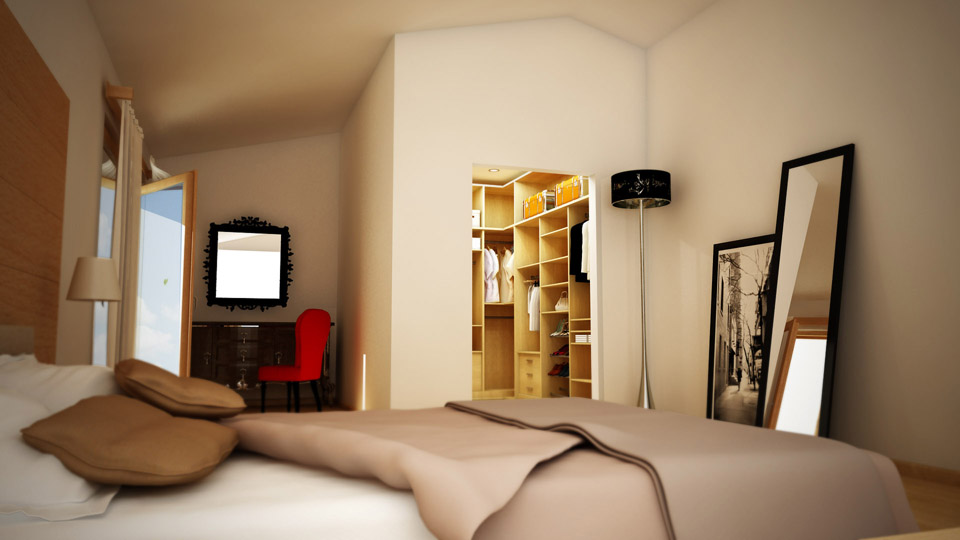 Htmlcaption3 - Camera da letto con cabina armadio e bagno ...